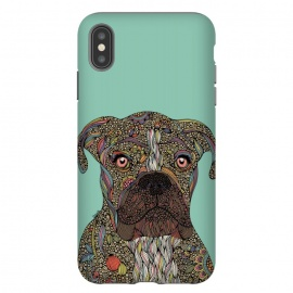 iPhone Xs Max  Pepper by  (animals,dogs,dog lover,pets,doodles,valentina harper,colors,ink)