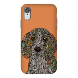 iPhone Xr  Zoey by Valentina Harper (Dogs,Dog lover,animals,Pets,colors,doodles,Valentina harper,ink)