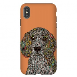 iPhone Xs Max  Zoey by  (Dogs,Dog lover,animals,Pets,colors,doodles,Valentina harper,ink)