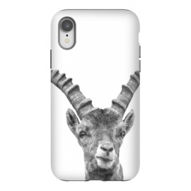 iPhone Xr  Black and White Capricorn by Alemi