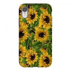 iPhone Xr  Vintage Sunflower Pattern by Utart