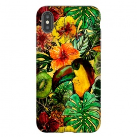 Tropical bird in flower jungle by Utart