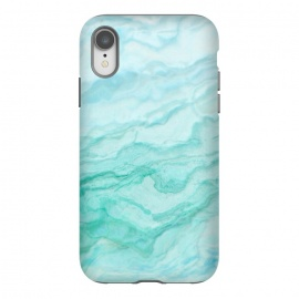 iPhone Xr  Teal and Turquoise Marble Ink by Utart