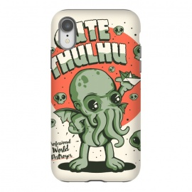 iPhone Xr  Cutethulhu! by Ilustrata (Cute, cthulhu, Lovecraft, Call of Cthulhu, book, horror, 30s, retro, vintage, monster, sea, green)