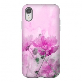 iPhone Xr  Pink Cosmea Watercolor Art by Andrea Haase