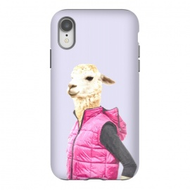 iPhone Xr  Fashionable Llama Illustration by