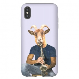 iPhone Xs Max  Goat Musician Illustration by Alemi