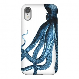 iPhone Xr  Blue Octopus Illustration by Alemi