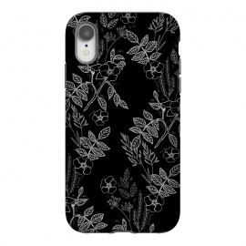 iPhone Xr  DarkRoses by Dunia Nalu (dark, black,white,B&W,floral,botanical,nature,flowers,flower,minimalist)