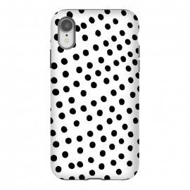 iPhone Xr  Drunk black polka dots on white by DaDo ART
