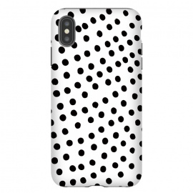 Drunk black polka dots on white by DaDo ART