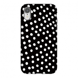 iPhone Xr  Drunk little white polka dots on black  by DaDo ART