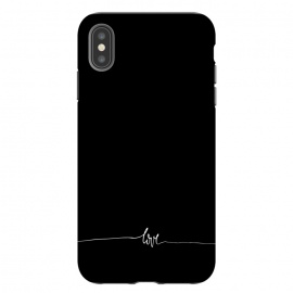 iPhone Xs Max  Simply love - on black by DaDo ART