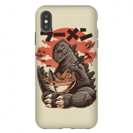 iPhone Xs Max  Kaiju's Ramen by Ilustrata (japan, japanese, Kaiju, Monster, Monsters, anime, oldschool, Retro, Vintage, cinema, movie, retromovie, retrocinema, ramen, lamen, food, funny, 怪獣, japanesefood)