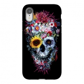 iPhone Xr  SKULL VOODOO DARK by Riza Peker (SKULL,SKELETON,FLORAL,COLLAGE,ART)