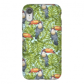 iPhone Xr  Monstera Birds by Creativeaxle