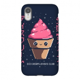 iPhone Xr  Ice cream lovers club by  (icecream, japanese, cute, kawai, lettering, snow, winter, pixel, pixelart)