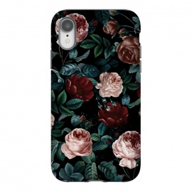 iPhone Xr  EXOTIC GARDEN - NIGHT XV by  (botanical,tropical,vintage,retro,rose,garden,jungle,night,dark,black,leaf,leaves)