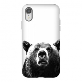 iPhone Xr  Black and White Bear by Alemi