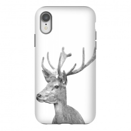 iPhone Xr  Black and White Deer by Alemi