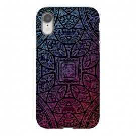 iPhone Xr  Mandala With Blue and Magenta by Rossy Villarreal ()