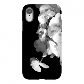 iPhone Xr  White Orchids Black Background by Alemi