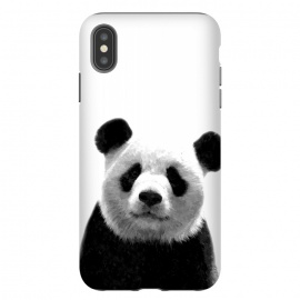 Black and White Panda Portrait by Alemi