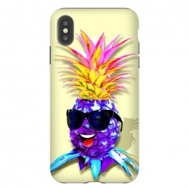 iPhone Xs Max  Pineapple Ultraviolet Happy Dude with Sunglasses  by
