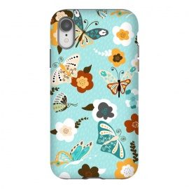 iPhone Xr  Beautiful Butterflies on Bright Blue by Paula Ohreen