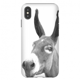 iPhone Xs Max  Black and White Donkey by Alemi
