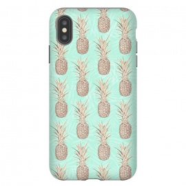 Golden and mint pineapples pattern by InovArts