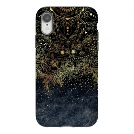 iPhone Xr  Stylish Gold floral mandala and confetti by InovArts