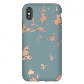 iPhone Xs Max  Copper Splatter 002 by Jelena Obradovic