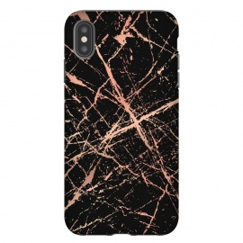 iPhone Xs Max  Copper Splatter 003 by Jelena Obradovic