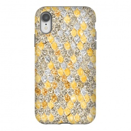 iPhone Xr  Gold and Silver Sparkling Mermaid Scales by Utart