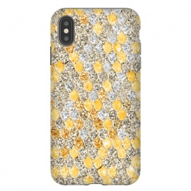 iPhone Xs Max  Gold and Silver Sparkling Mermaid Scales by Utart