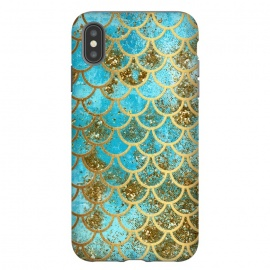 Blue, Glitter and Gold Mermaid Scales by Utart