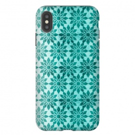 iPhone Xs Max  Majorelle by Heather Dutton (geometric,geo,pattern,patterns,graphic design,aqua,aquamarine,blue,turquoise,flower,floral,boho,bohemian,design,print)
