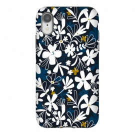 iPhone Xr  Eloise by Heather Dutton (floral,floral print, floral pattern, flower, flowers,nature, nature inspired, summer, blue,illustration,graphic design,design,feminine,navy,navy blue,garden,retro, vintage,vector)