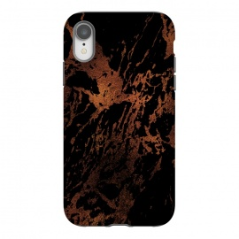 iPhone Xr  Copper Metal Veined Marble by Utart