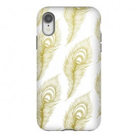 iPhone Xr  Peacock Feathers by Barlena