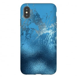 iPhone Xs Max  Blue Metal and Marble  by Utart