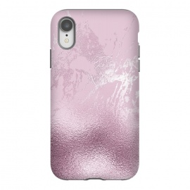 iPhone Xr  Blush Marble and Glitter by Utart