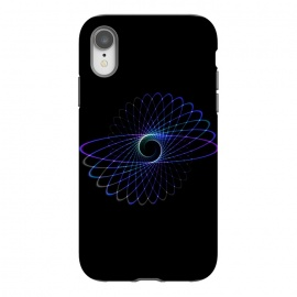 iPhone Xr  Spirograph Object on Black by