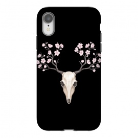 iPhone Xr  Deer skull black by Laura Nagel