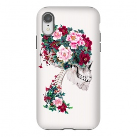 iPhone Xr  Skull with Peonies by Riza Peker (skull,flowers,collage,art)