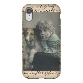 iPhone Xr  Vintage Boy With Dog by Andrea Haase