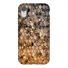 iPhone Xr  Old Gold and Bronze Mermaid Scales Pattern by Utart
