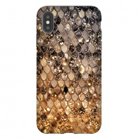 Old Gold and Bronze Mermaid Scales Pattern by Utart