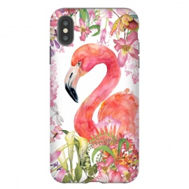 iPhone Xs Max  Flamingo in Flower Jungle by Utart